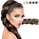 Braided Faux Hair Plaits Soft Extensions Stretchy Headband Hairband | Hair Plaited Plait Elastic Hairband for Girls & Women