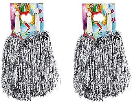 1/docena de pompones Crivers 12 pompones de animadora para bailar y deportes Mischfarben