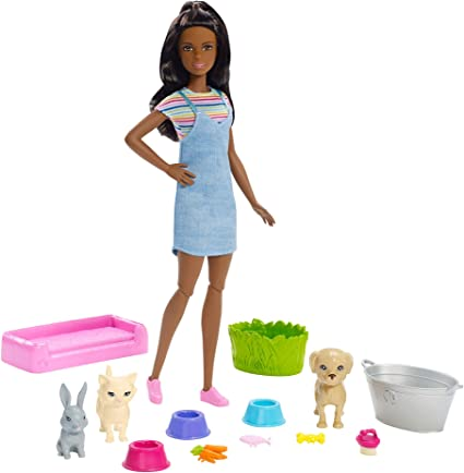 Mattel 2009 Barbie Glam Doll /& Play Set With Couch /& Accessories New In Box