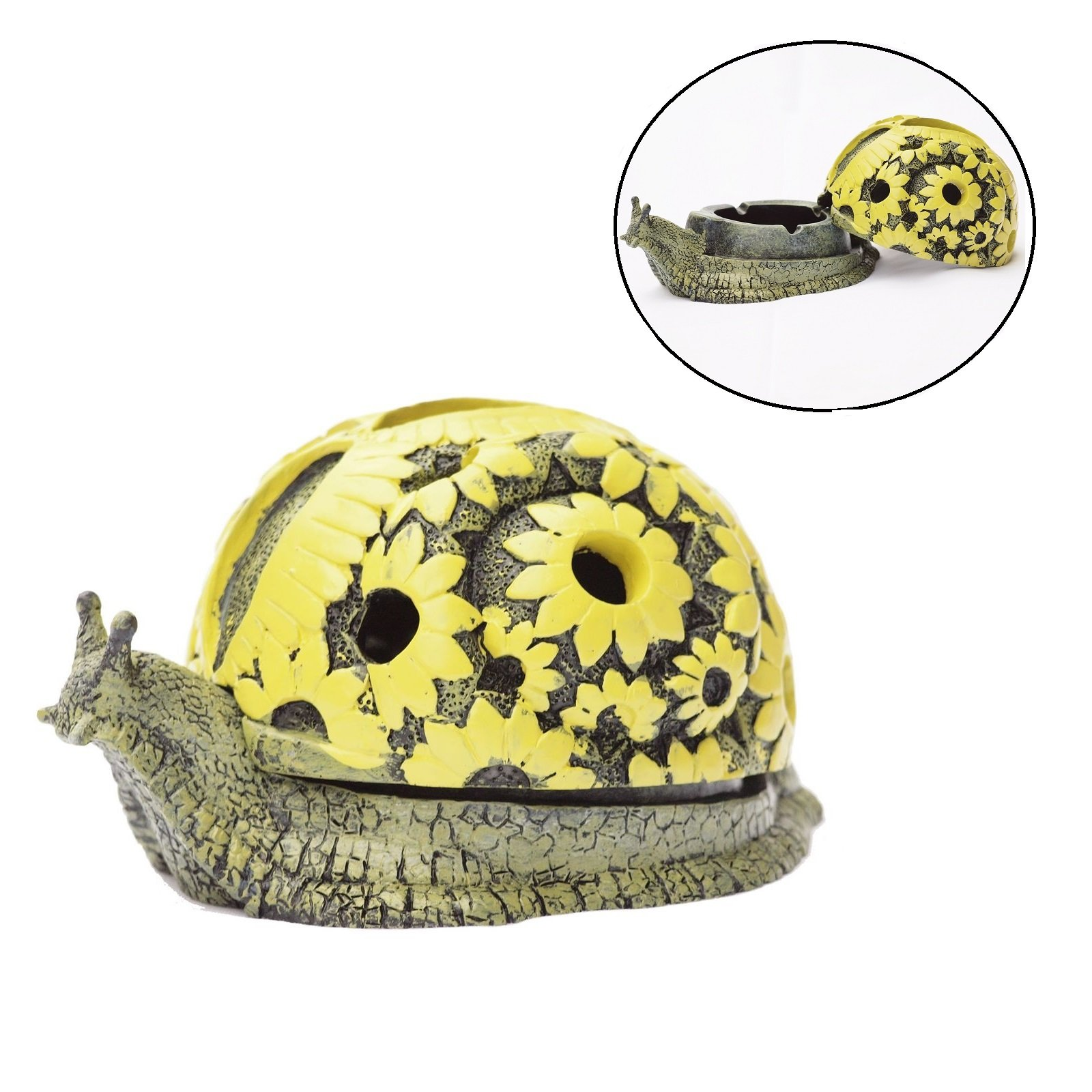 Greek Art Garden Decoration Snail Resin Key Hider Diversion Safe Key Outside Hider Hide-A-Key Holder Safely Hiding Your Spare Keys for Outdoor Garden or Yard, Geocaching
