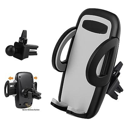 BrainWizz Soporte de teléfono para automóvil Auto Universal - Fijación Sobre la Rejilla de ventilación -