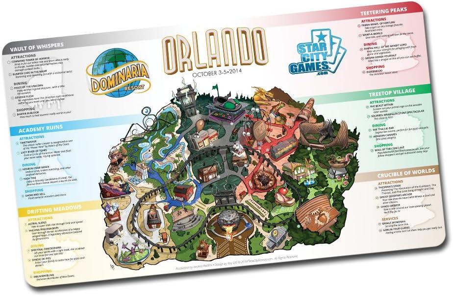 Orlando 2014 Playmat Magic the Gathering Grand Prix Dominaria Resort MTG