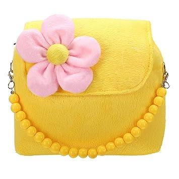 4b38f6568556 Dimensional flowers Children Shoulder Bag - SODIAL(R)Children Girls Kids  Princess Handbag Tote