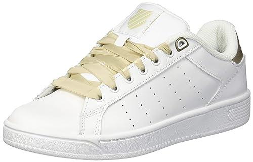 2b4c9b35a2f7 K-Swiss Women s Clean Court CMF Black Charcoal  Amazon.ca  Shoes ...