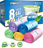 小垃圾袋,FORID 浴室垃圾袋适用于卧室家庭厨房 150 个装5 色 5 Gallon/ 150pc/ 5 Roll