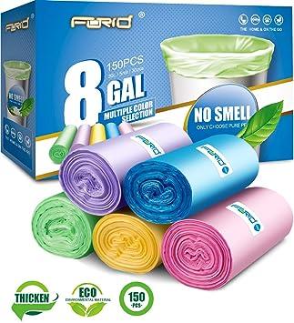 Amazon.com: Paquete de 5 rollos de bolsas para residuos., 5 ...