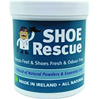 Shoe and foot powder 100g - Foot odour remover and eliminator - Developed by a registered podiatrist Shoe Rescue is a completely natural deodorant remedy to eliminate smelly shoes and feet - Contains beautiful essential oils Tea Tree Lavender and Peppermint - Also helps Athletes foot and keep feet fresh