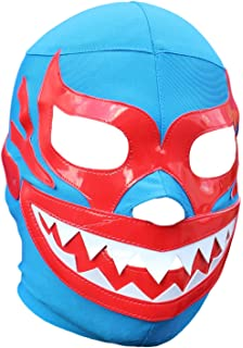 Deportes Martinez Mil Mascaras Tiburon Lycra Lucha Libre Luchador Wrestling Masks Adult Size Blue