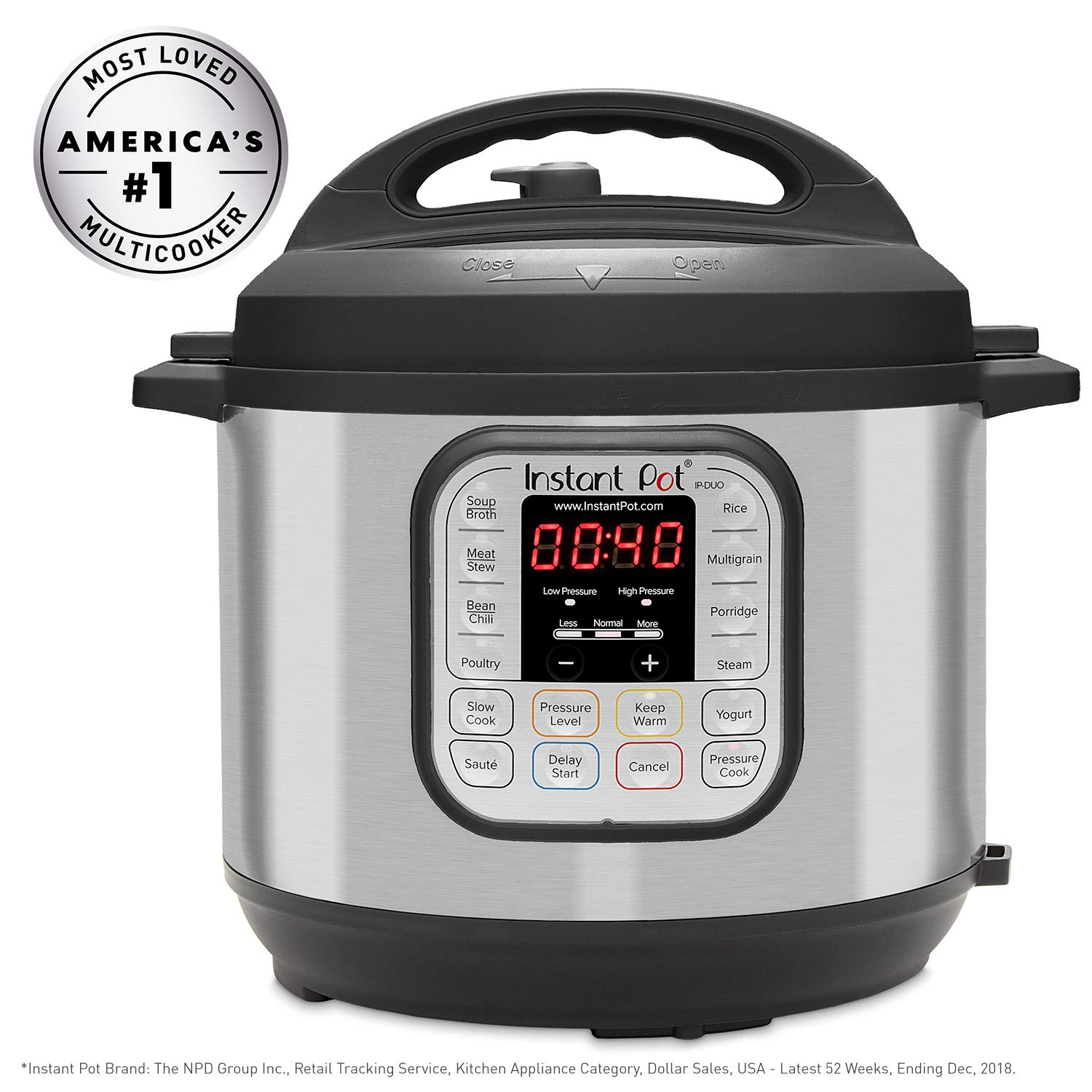 Instant Pot DUO80 8 Qt  7-in-1 Multi- Use Programmable Pressure Cooker, Slow Cooker, Rice Cooker, Steamer, Sauté, Yogurt Maker and Warmer by Instant Pot