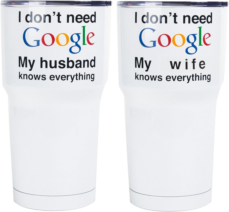 Home Essentials Izzie 2asst 20oz Google Stainless Steel Insulated Mug