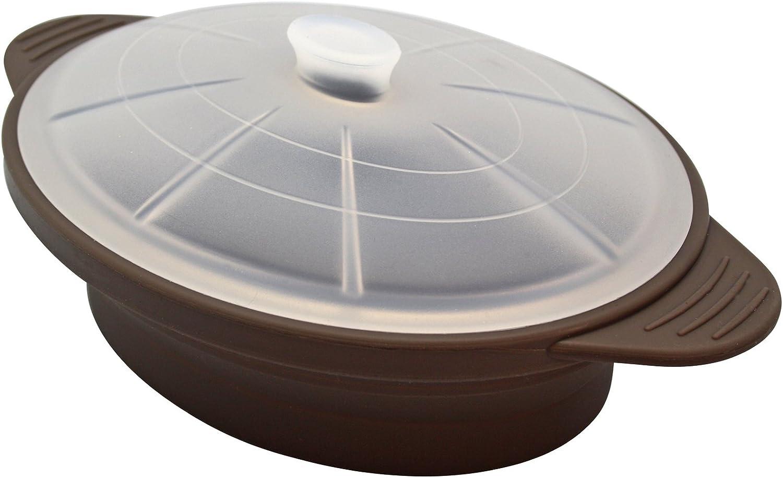 baekka Olla Microondas de Silicona, Color marrón (Taupe) Large: Amazon.es: Hogar