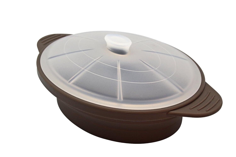 Olla Microondas de Silicona, Color marrón (taupe) Large
