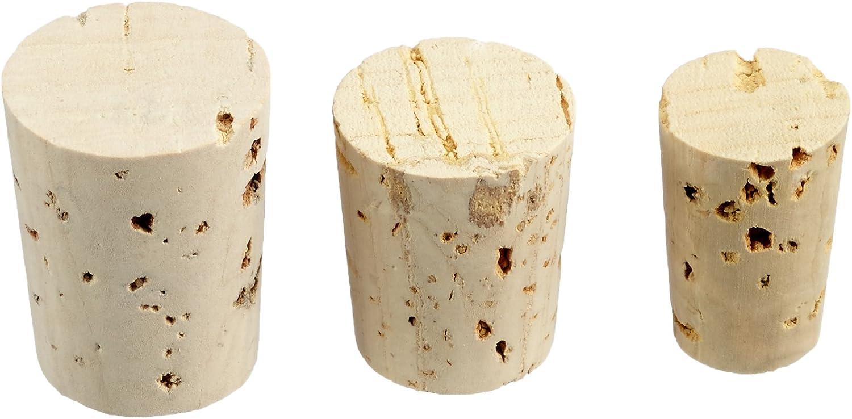 Rayher Corcho en Punta para Flacons, Surtido, Bolsa 36 Unidades, 3 tamaños