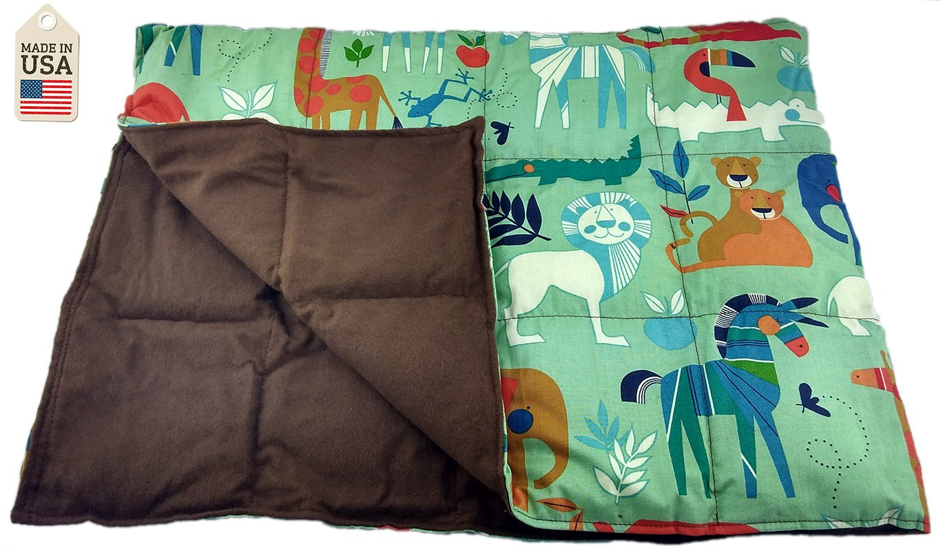 7 LB Weighted Blanket - Zoo Animals - Premium Weighted Washable Body Blanket by Grampa's Garden