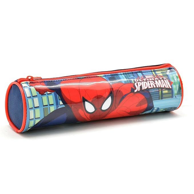 Amazon.com: Spiderman Estuche Tela Cilindro Spiderman Pencil ...