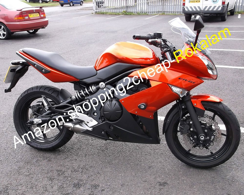 Amazon.com: Orange Fairings For Kawasaki Ninja 650R ER 6F ...