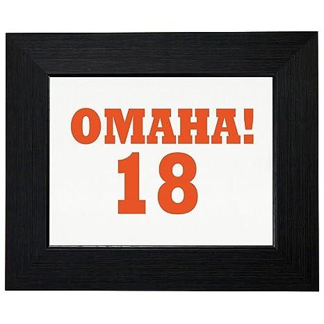 Amazon.com: Omaha 18 °Fútbol llamada cartel divertido ...