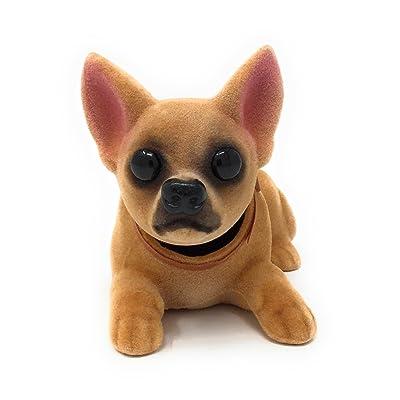 Noveltees Company Bobbing Head Dog, Bobble Head Chihuahua, Lying Down: Toys & Games