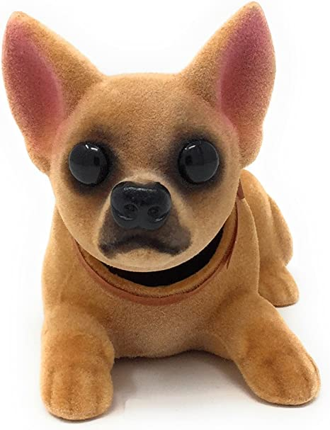 In Original Box Bobble Head Toy Golden Brown Shaky Head Dog
