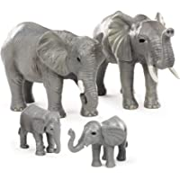 Terra by Battat – African Elephant Family – Miniature Elephant Animal Toys for Kids 3-Years-Old & Up (4 Pc)