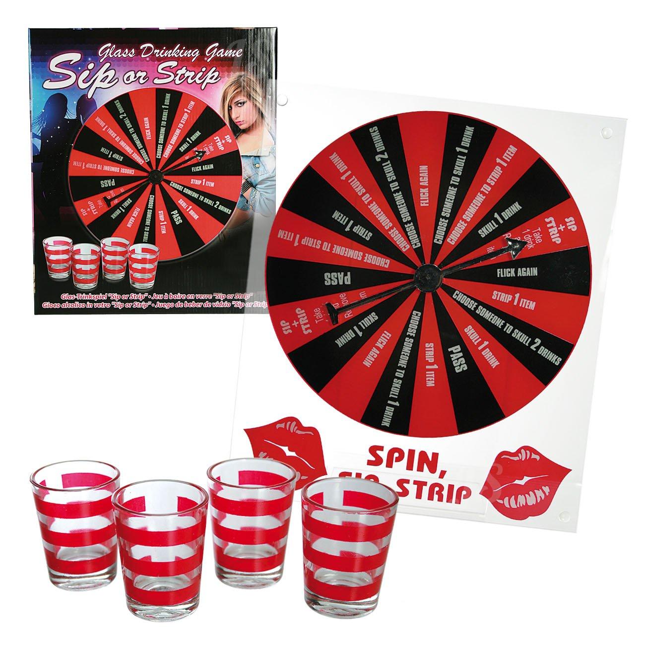 Preis am Stiel 1 x Trinkspiel Sip or Strip | Gesellschaftsspiel | Partyspiel | Saufspiel | Spiele für Erwachsene | Brettspiel | Geschenkidee | Gastgeschenk | Geschenke zum 18 Geburtstag