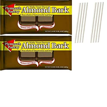 Amazon Com Plymouth Pantry Almond Bark Dark Chocolate Wafers Easy