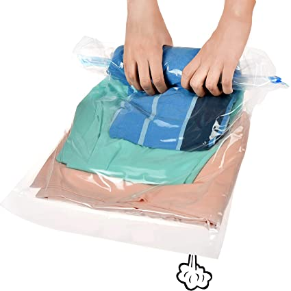 3260a063e77f Pekaa Roll Up Travel Space Saver Storage Bag 12-Count Protect Clothes  Compression Bags 6 Large (28