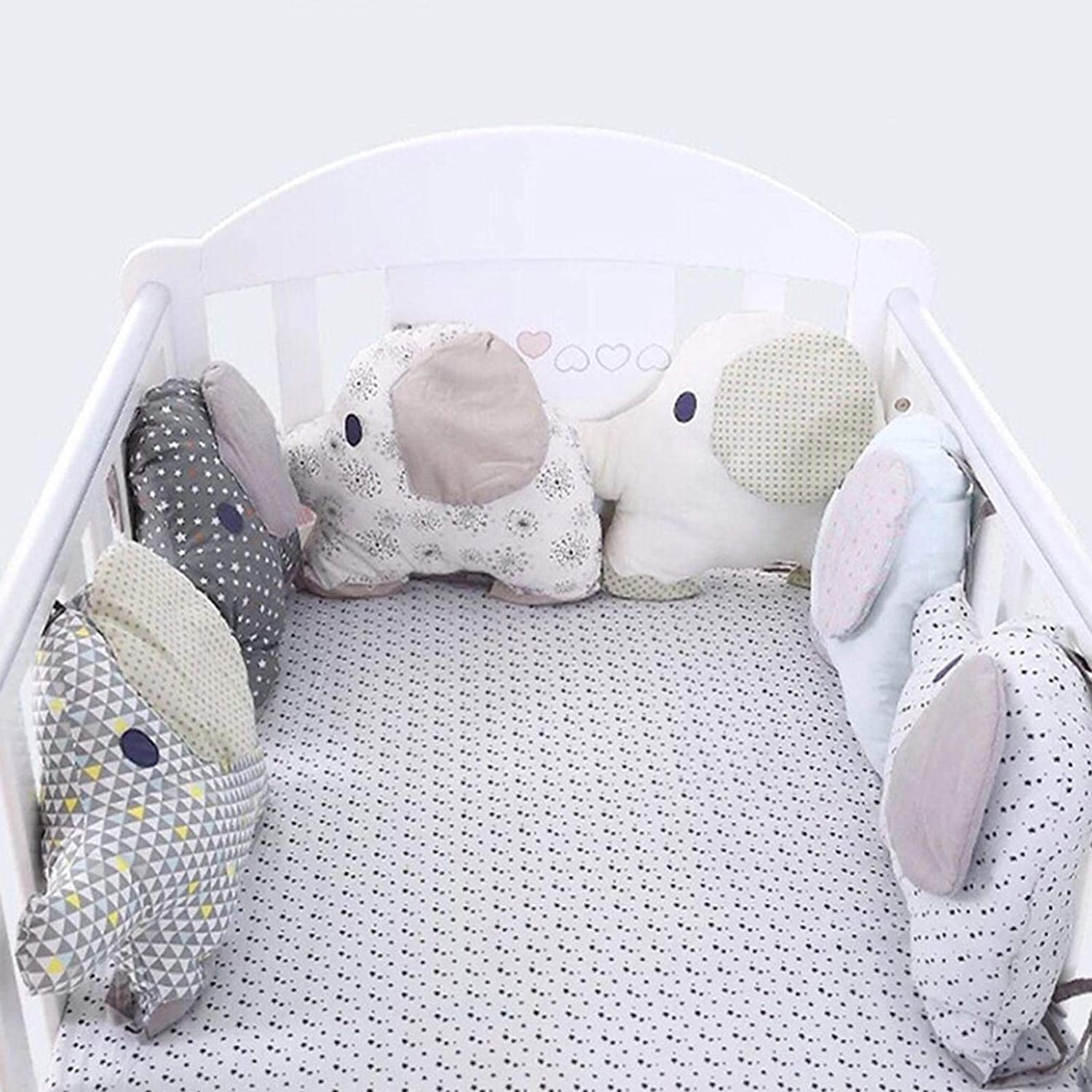 Leiyini Baby Crib Bumper Comfort Junior Bed Sleep Bumper Nursery Cradle Bumper Cradle Decor Newborn Gift