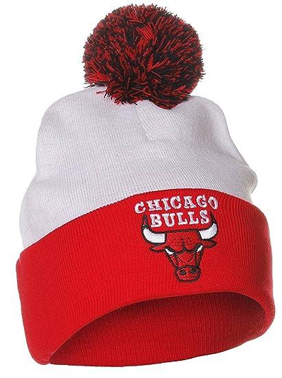 7b5701189c2 Adidas NBA Chicago Bulls Winter Beanie Knit Pom Pom Hat Cap (One Size