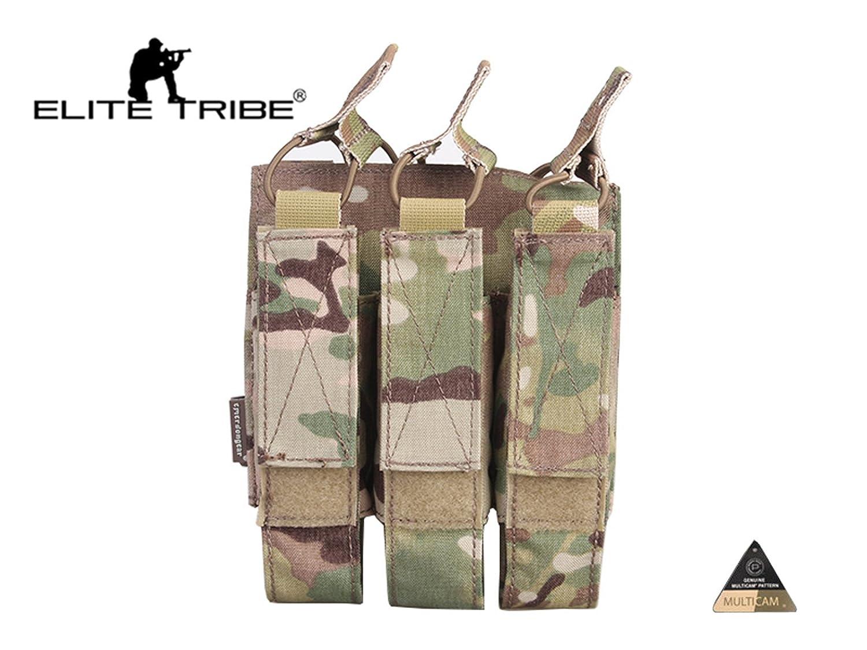 Elite Tribe Airsoft Molle Revista Bolsa T/áctico Modular Triple Revista Bolsa Multicam