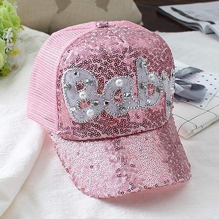 Summer Girls Boys Sequins Baseball Cap Children Hat Gold Shiny Breathable Net Cap Cartoon Smiley