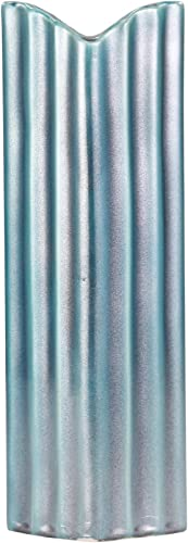 Sagebrook Home 13096-01 Ceramic Vase, 5 x 3.5 x 15 , Teal Blue