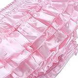 Alvivi Men's Ruffle Panties Shiny Satin Shorts