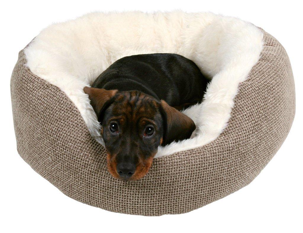 Trixie 37041 Yuma - peluche, diseño de perro cama Ø 45 cm marrón/blanco: Amazon.es: Productos para mascotas