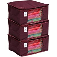 Kuber Industries Non Woven Saree Cover Set, Royal,Large Size -CTKTC6448