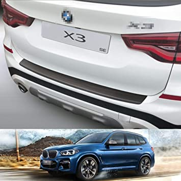 Rear Bumper Profiled Sill Scuff Plastic Protectors Black for BMW X3 G01 SE 2017