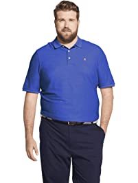 d90dca65ed8 Izod Men's Big and Tall Advantage Performance Short Sleeve Solid Heather  Polo