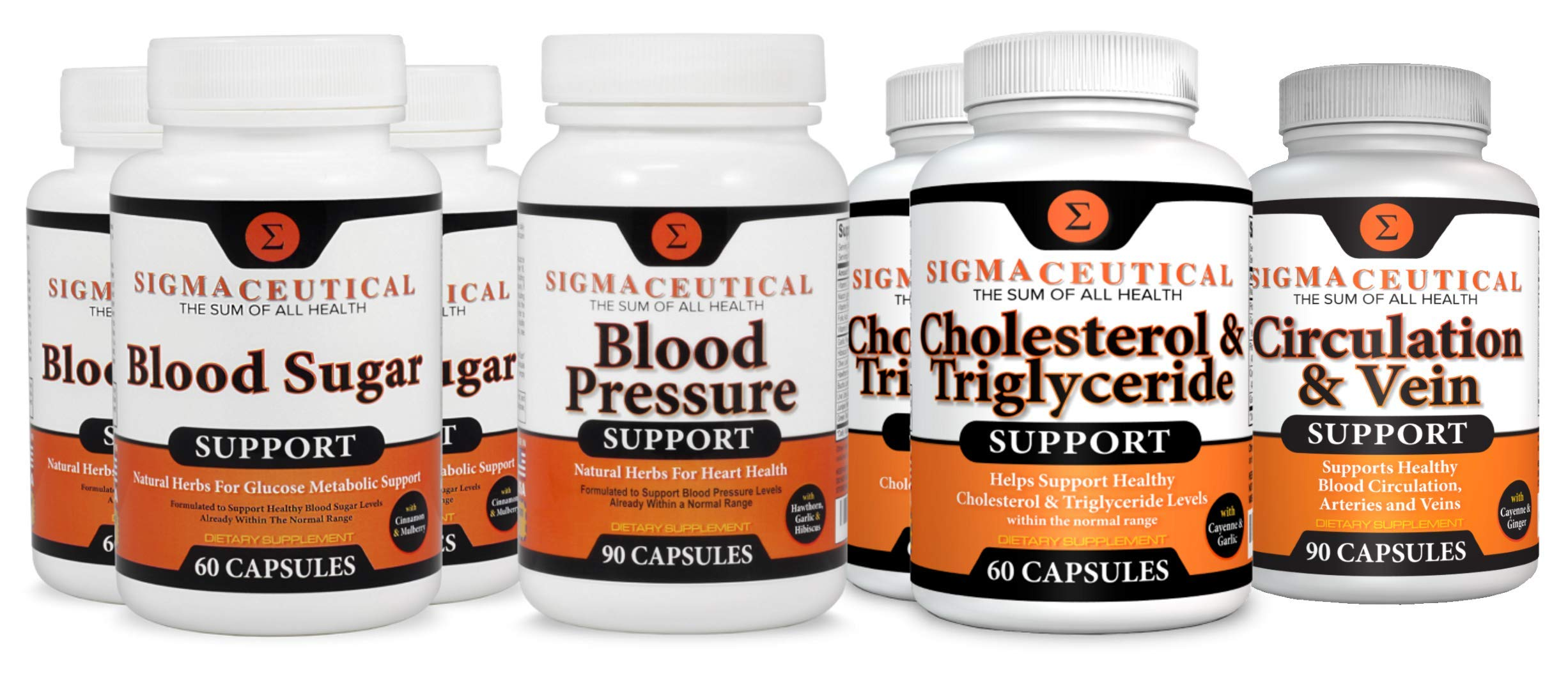 Metabolic Syndrome Supplements - Blood Pressure, Cholesterol & Blood Sugar Lowering Plus Circulation