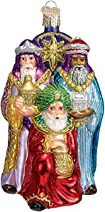 Old World Christmas Spiritual Gifts Glass Blown Ornaments for Christmas Tree Three Wise Men