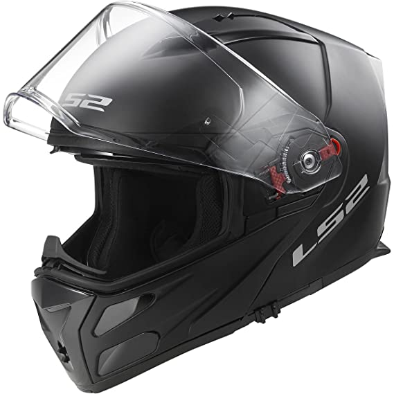 Amazon.com: LS2 Helmets Metro Solid Modular Motorcycle Helmet with Sunshield (Matte Black, X-Large): Automotive