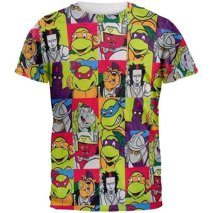 Hybrid Teenage Mutant Ninja All Characters Cast All Over Mens T-Shirt