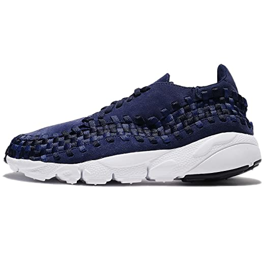 NIKE Men's Air Footscape Woven NM, Binary Blue/Team Royal-Black, 8