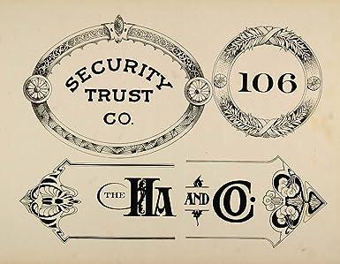 1910 print graphic design art nouveau font security trust templates
