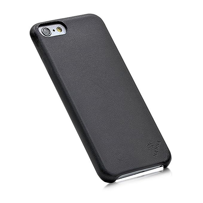 13 opinioni per MANNA Cover iPhone 6 / 6S Custodia artigianale in vera pelle nera 'Astana'-