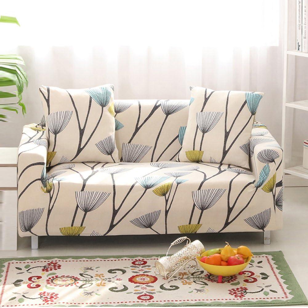 HOTNIU Cepillado Fundas De Sofá Impreso Reversible Funda para Sofá 1 Pieza Elástica Sofá Pantalla para Muebles(3 Plazas para 195-230cm,Patrón #3)