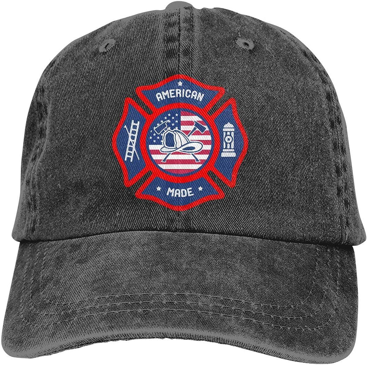 American Made Firefighter Adult Custom Cowboy Sun Hat Adjustable Baseball Cap