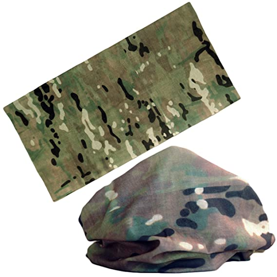 LOOGU 12 en 1 Diadema AUSCAM Camo Multifuncional sin Costuras Bandanas Headwear
