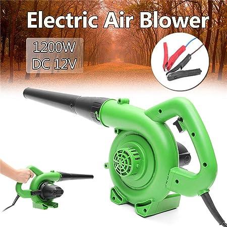 RESUXI Aspirador- soplador eléctrico - 1200W portátil de Aire del Ventilador Handheld eléctrico Hoja Jardín del Coche del colector de Polvo del Aire Que sopla Ordenador máquina colectora: Amazon.es: Hogar