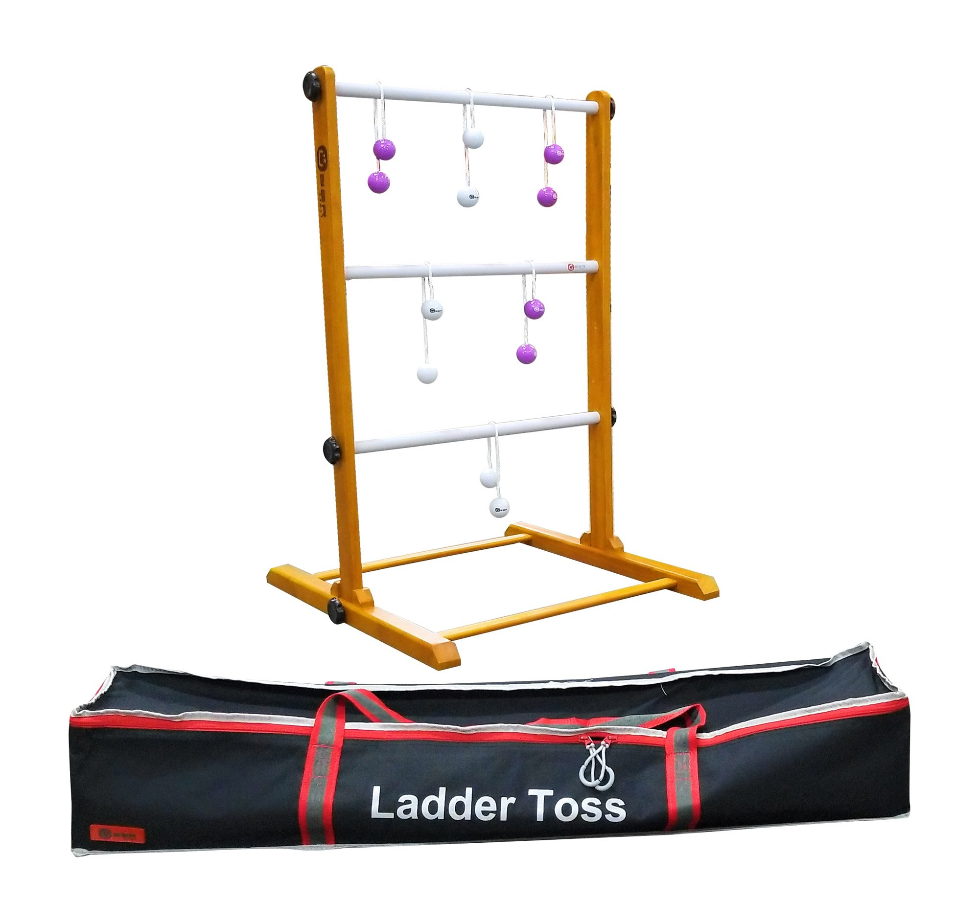 Uber Games Ladder Toss - Single Game - White and Purple Bolas