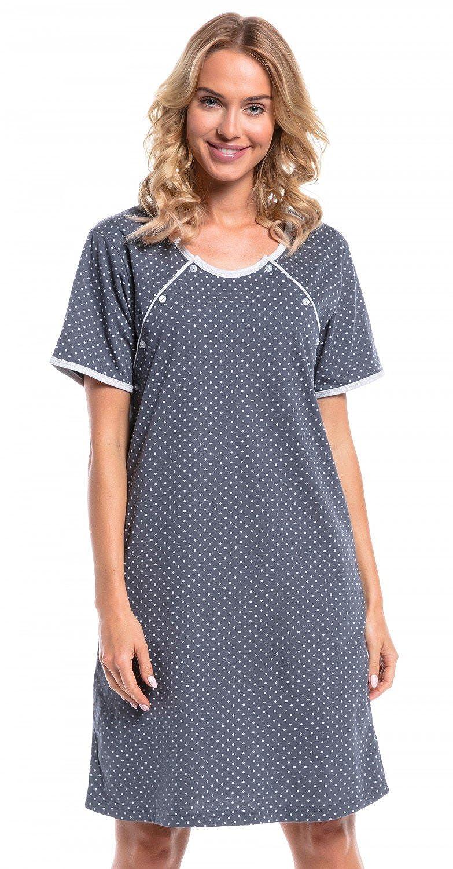 Happy Mama Womens Maternity Hospital Gown Nightie Polka Dot ...